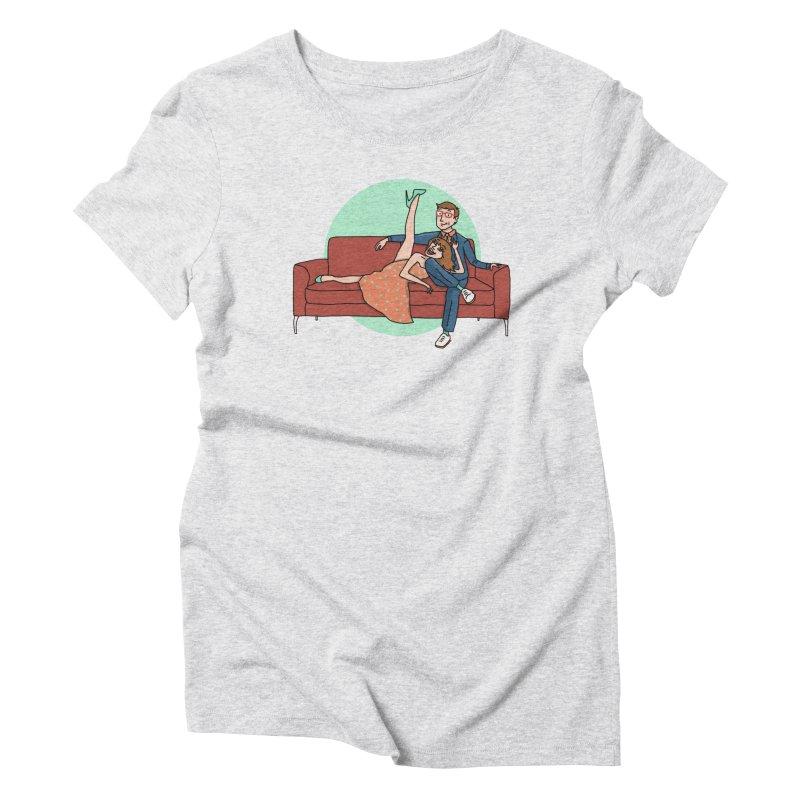 Hattie and Matt Women's Triblend T-Shirt by PEP's Artist Shop