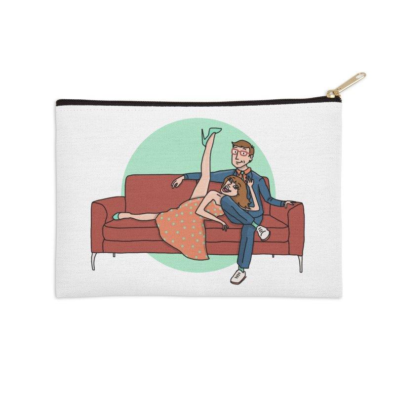 Hattie and Matt Accessories Zip Pouch by PEP's Artist Shop