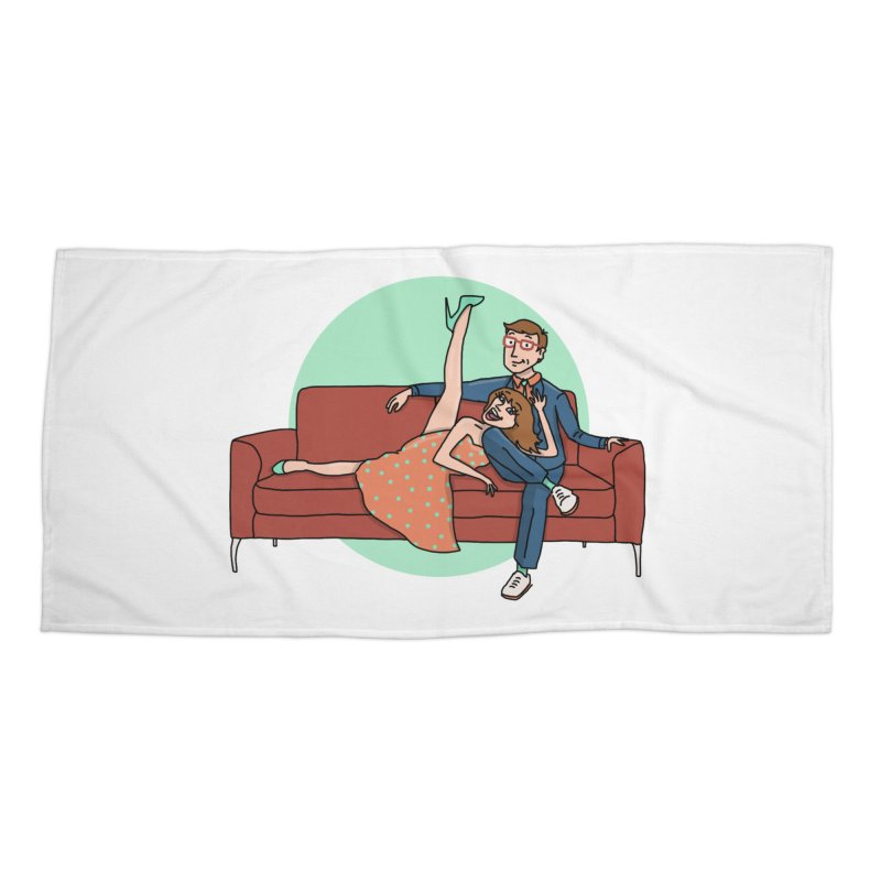Hattie and Matt Accessories Beach Towel by PEP's Artist Shop