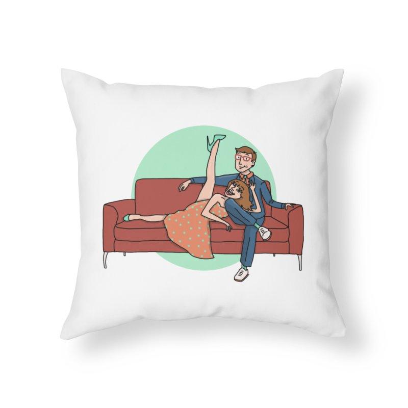 Hattie and Matt Home Throw Pillow by PEP's Artist Shop