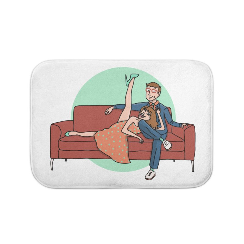 Hattie and Matt Home Bath Mat by PEP's Artist Shop