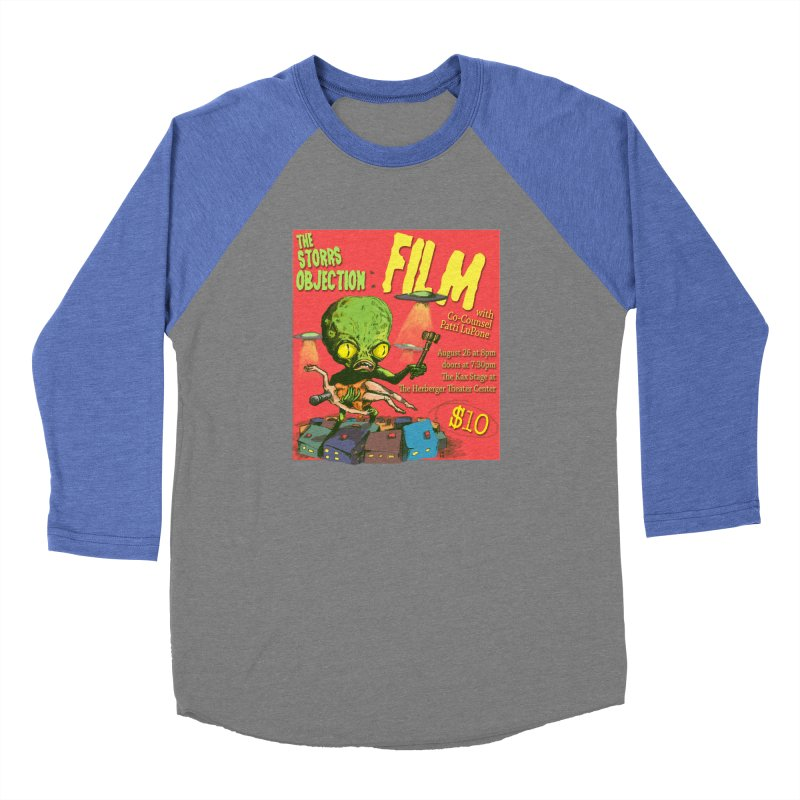 The Storrs Objection: Film Men's Baseball Triblend T-Shirt by PEP's Artist Shop