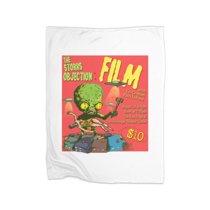 The Storrs Objection: Film Home Fleece Blanket Blanket by PEP's Artist Shop