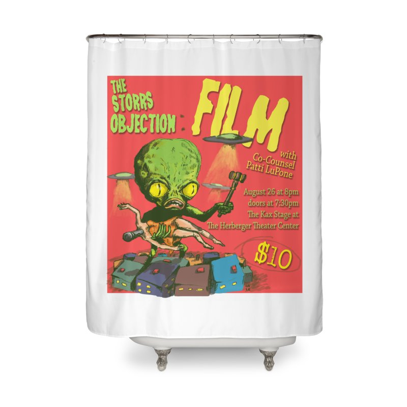 The Storrs Objection: Film Home Shower Curtain by PEP's Artist Shop