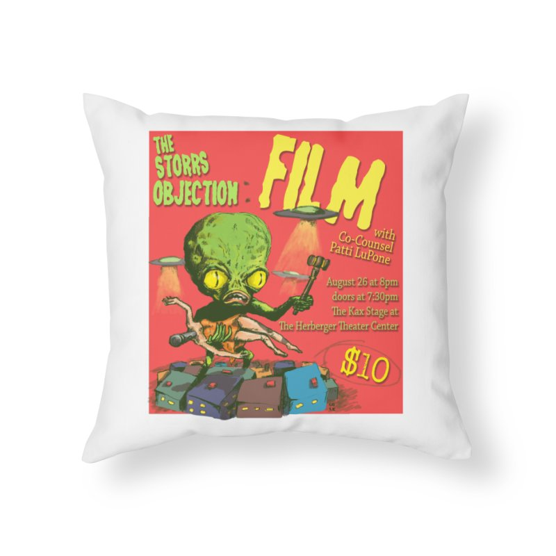 The Storrs Objection: Film Home Throw Pillow by PEP's Artist Shop