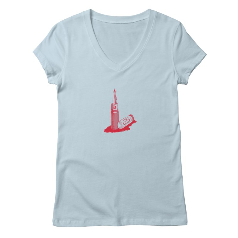 Ladykillers Logo Women's V-Neck by PEP's Artist Shop