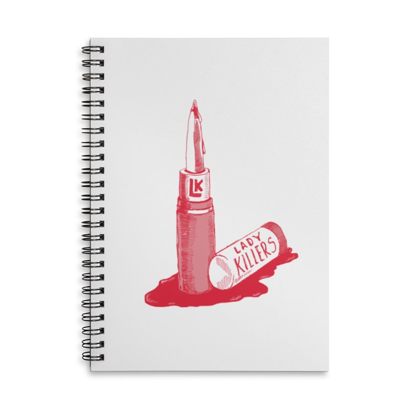 Ladykillers Logo Accessories Lined Spiral Notebook by PEP's Artist Shop