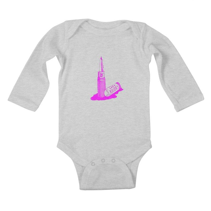 Ladykillers Logo (Princess Edit) Kids Baby Longsleeve Bodysuit by PEP's Artist Shop