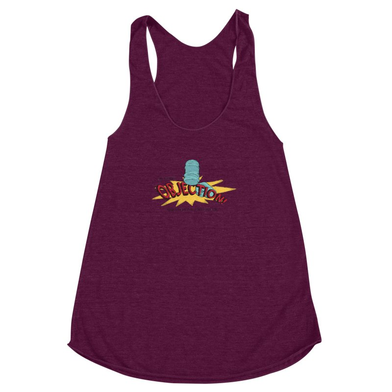 The Storrs Objection Women's Racerback Triblend Tank by PEP's Artist Shop