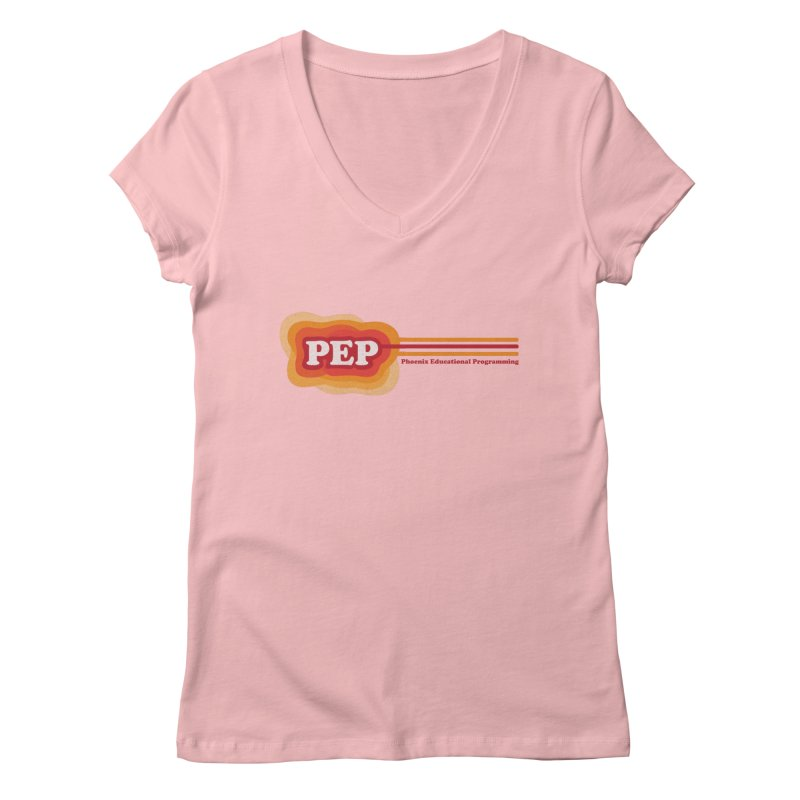Phoenix Educational Programming  Women's V-Neck by PEP's Artist Shop