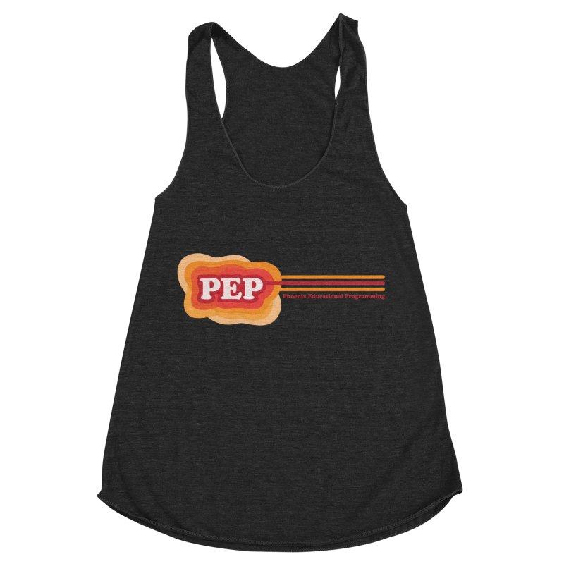 Phoenix Educational Programming  Women's Racerback Triblend Tank by PEP's Artist Shop
