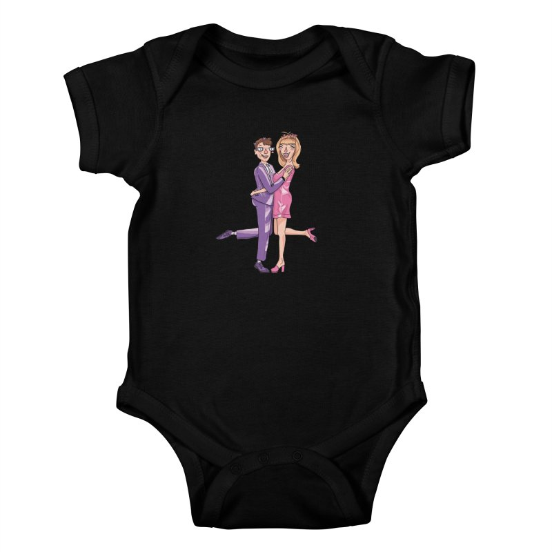 PEP Matt and Hattie Kids Baby Bodysuit by PEP's Artist Shop