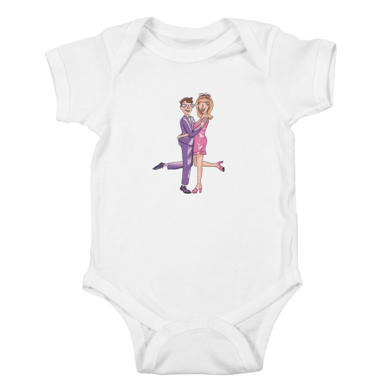 PEP Matt and Hattie Kids Baby Bodysuit by PEP's Artist Shop