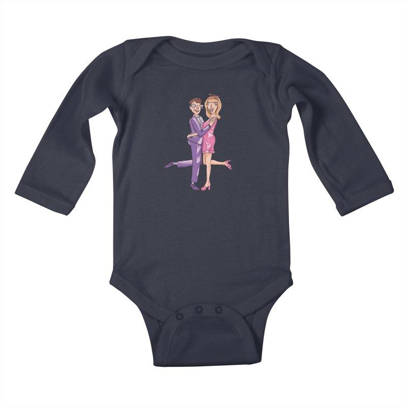 PEP Matt and Hattie Kids Baby Longsleeve Bodysuit by PEP's Artist Shop