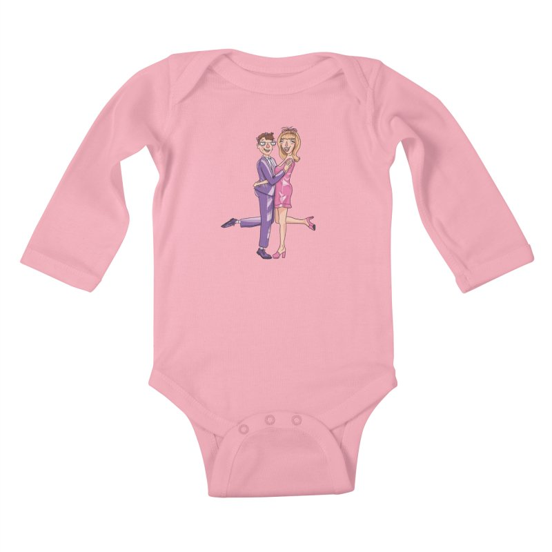 PEP Matt and Hattie Kids Baby Longsleeve Bodysuit by PEP's Artist Shop