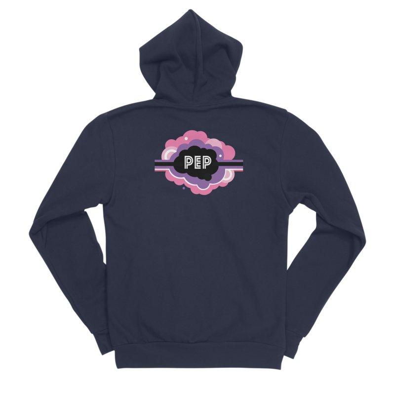 PEP Logo - Round Retro Women's Sponge Fleece Zip-Up Hoody by PEP's Artist Shop