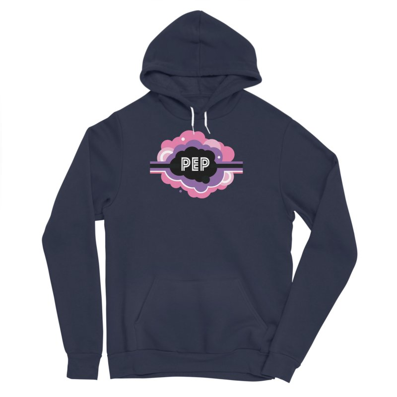 PEP Logo - Round Retro Men's Sponge Fleece Pullover Hoody by PEP's Artist Shop