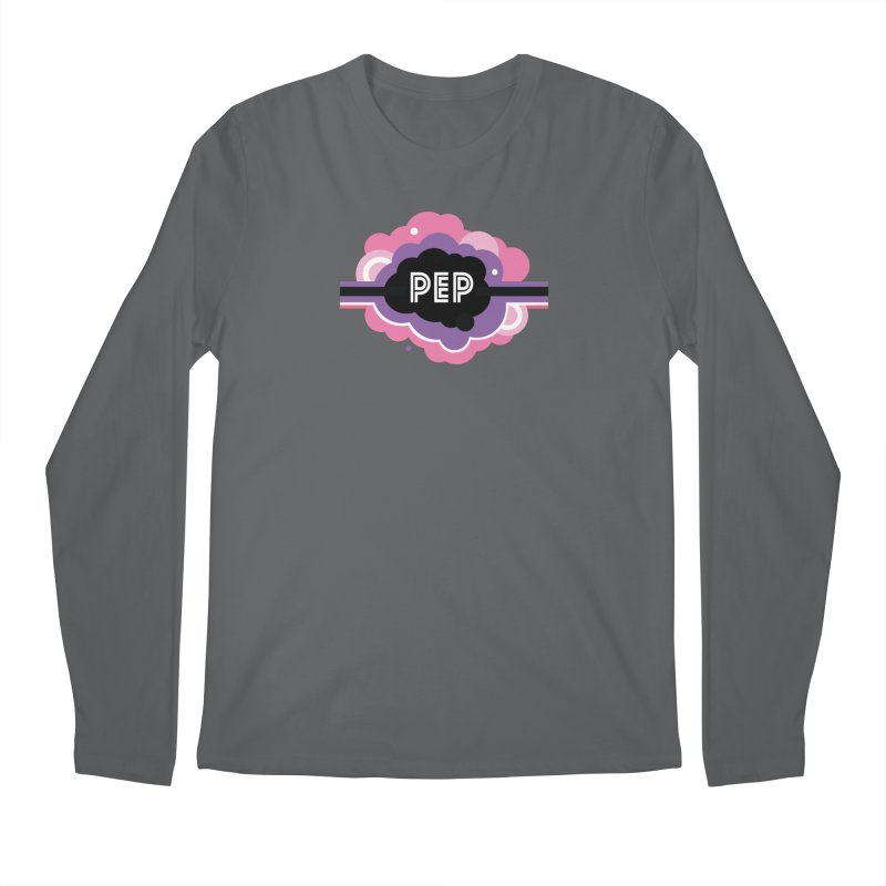 PEP Logo - Round Retro Men's Regular Longsleeve T-Shirt by PEP's Artist Shop