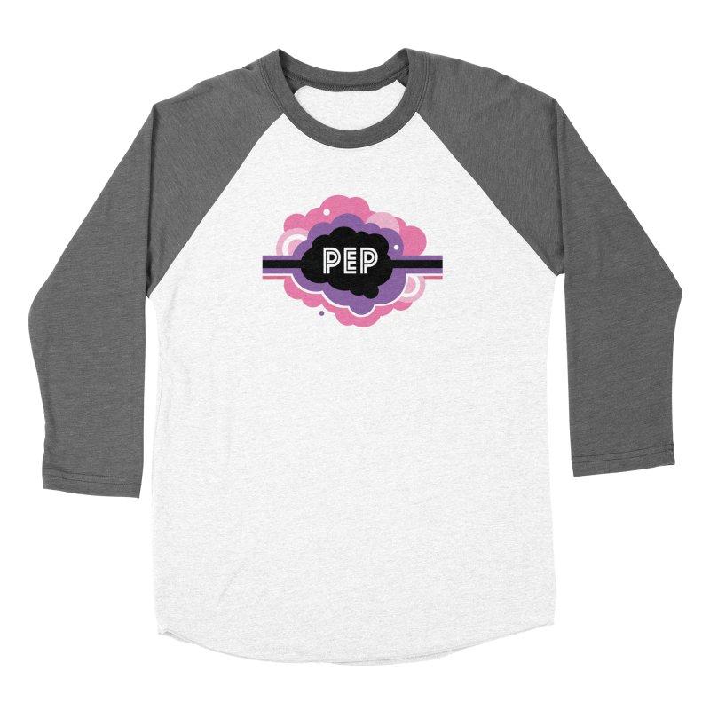 PEP Logo - Round Retro Women's Baseball Triblend Longsleeve T-Shirt by PEP's Artist Shop