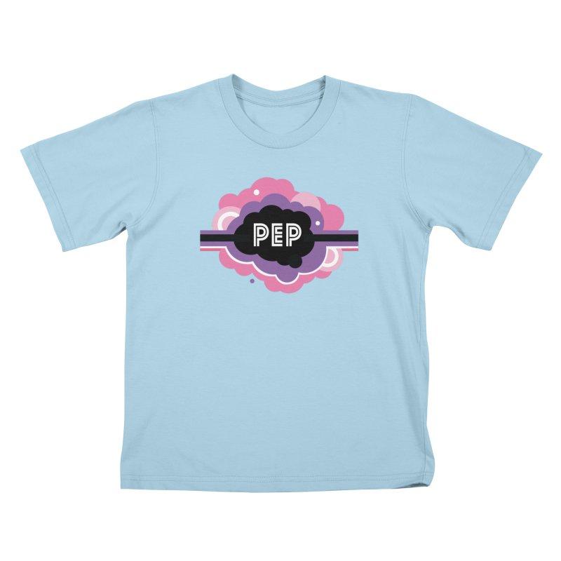 PEP Logo - Round Retro Kids T-Shirt by PEP's Artist Shop