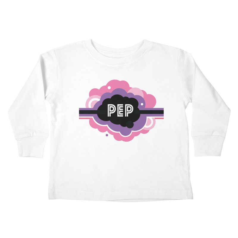 PEP Logo - Round Retro Kids Toddler Longsleeve T-Shirt by PEP's Artist Shop