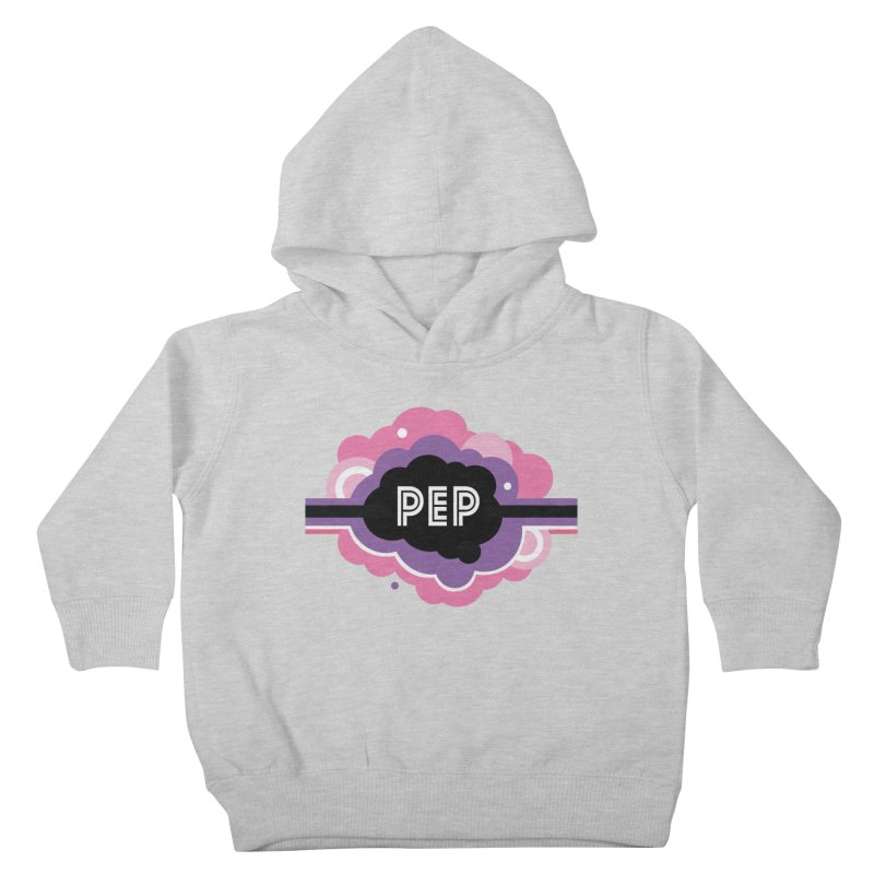 PEP Logo - Round Retro Kids Toddler Pullover Hoody by PEP's Artist Shop