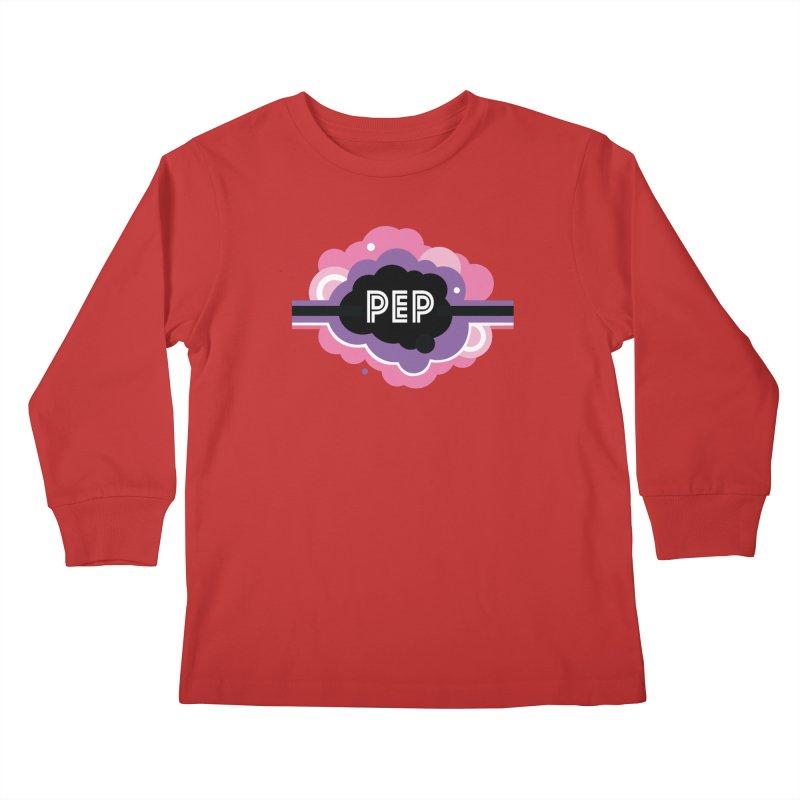 PEP Logo - Round Retro Kids Longsleeve T-Shirt by PEP's Artist Shop