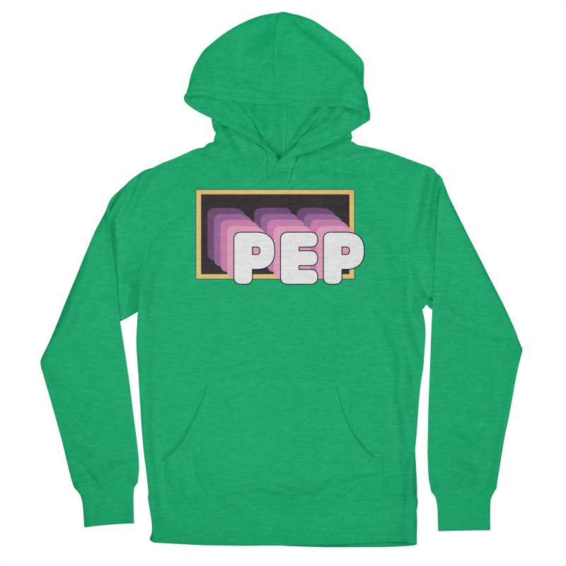 PEP Logo - Square Retro Men's French Terry Pullover Hoody by PEP's Artist Shop