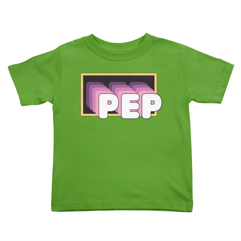 PEP Logo - Square Retro Kids Toddler T-Shirt by PEP's Artist Shop