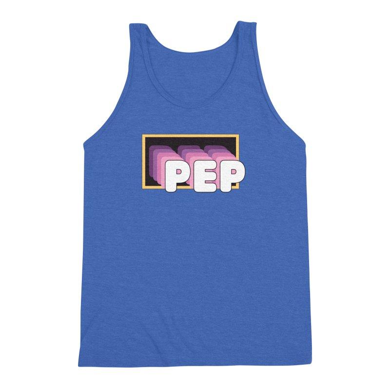 PEP Logo - Square Retro Men's Triblend Tank by PEP's Artist Shop