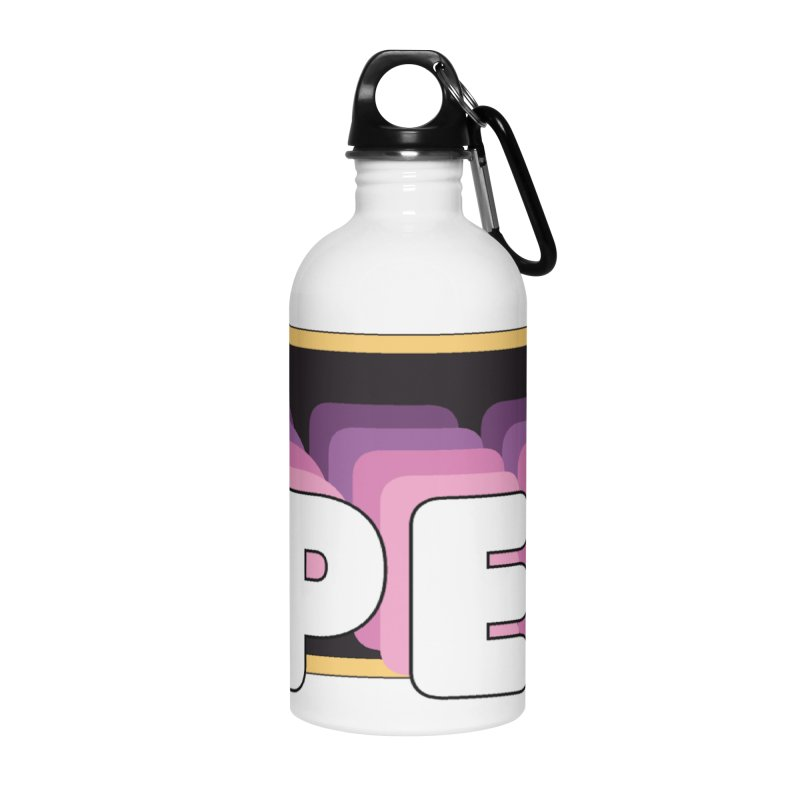 PEP Logo - Square Retro Accessories Water Bottle by PEP's Artist Shop
