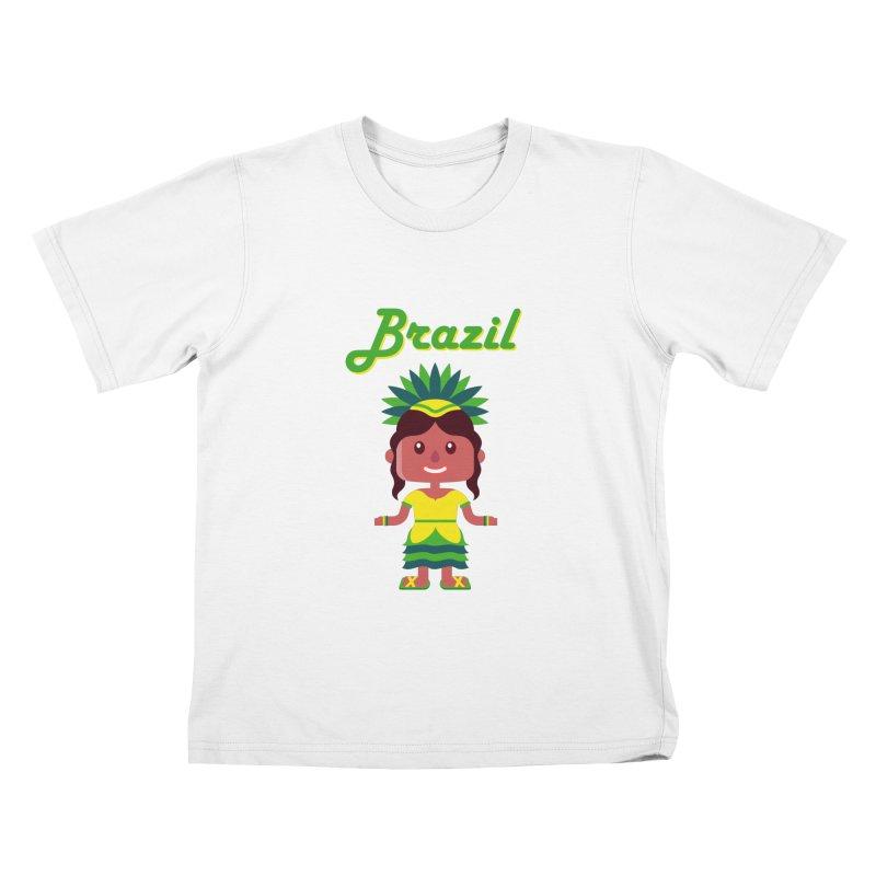 Brazil Kids T-shirt by PIPUS