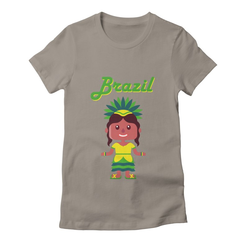 Brazil Women's Fitted T-Shirt by PIPUS