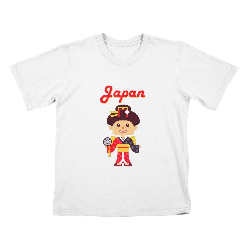 Japan Kids T-Shirt by PIPUS