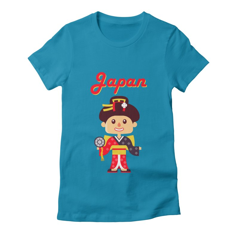 Japan Women's Fitted T-Shirt by PIPUS