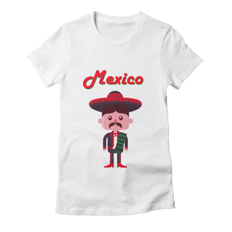 Mexico Women's Fitted T-Shirt by PIPUS
