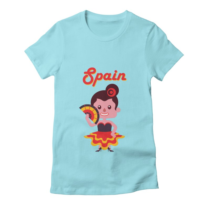 Spain Women's Fitted T-Shirt by PIPUS