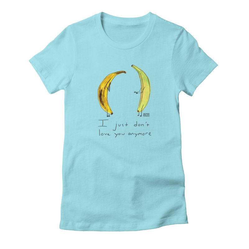 Banana Split Women's Fitted T-Shirt by PLOY by NomadSlim