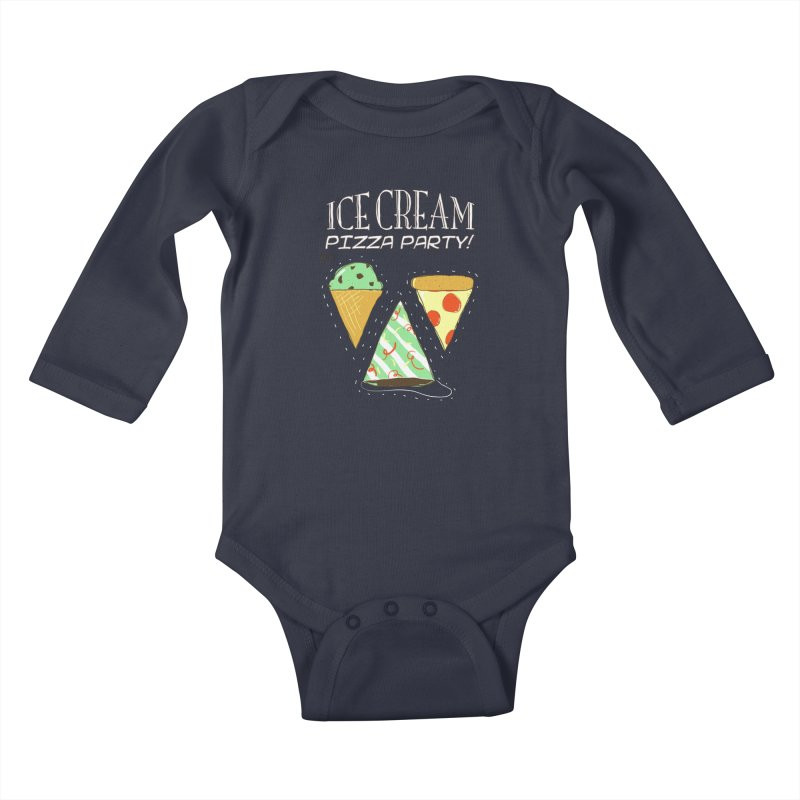 Ice Cream Pizza Party! Kids Baby Longsleeve Bodysuit by PLOY by NomadSlim