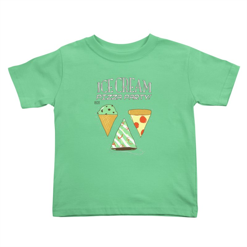 Ice Cream Pizza Party! Kids Toddler T-Shirt by PLOY by NomadSlim