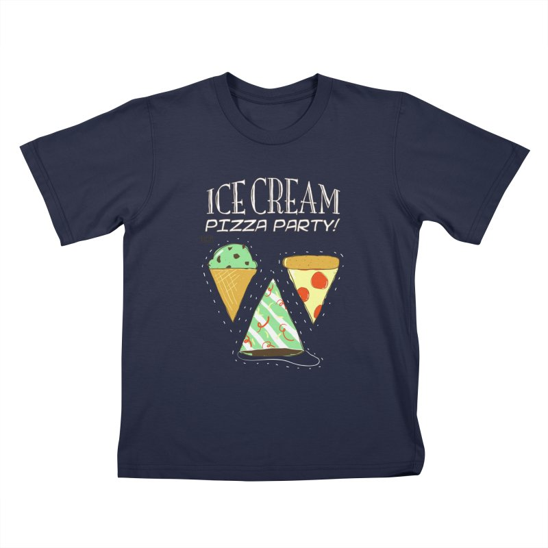 Ice Cream Pizza Party! Kids T-Shirt by PLOY by NomadSlim