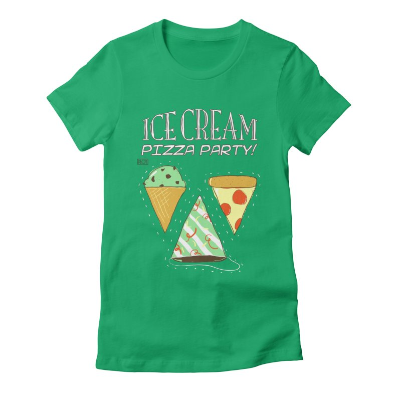Ice Cream Pizza Party! Women's Fitted T-Shirt by PLOY by NomadSlim