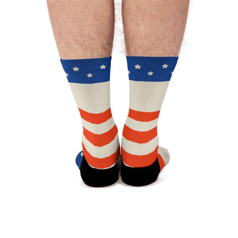 Medicare For All Americana Socks Men's Socks by PNHPMinnesota's Artist Shop