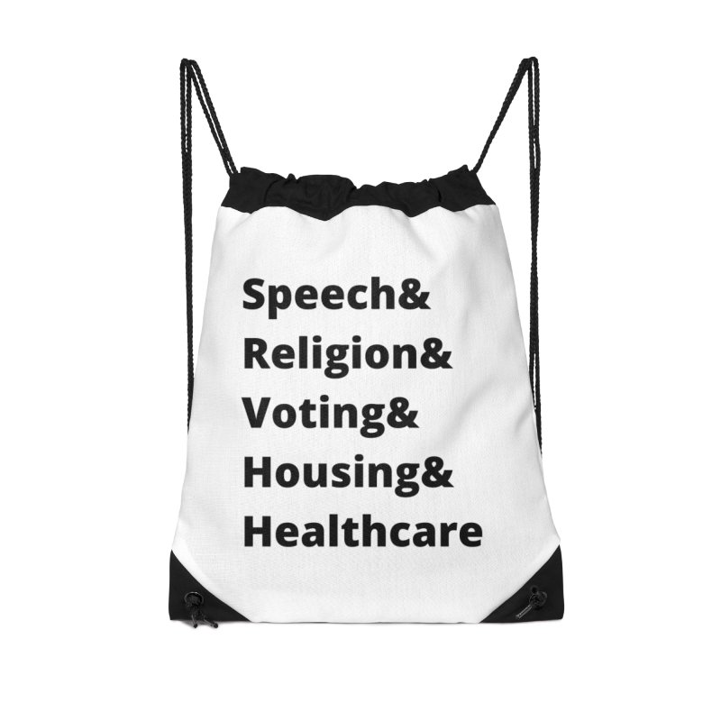 List of Rights Black Accessories Bag by PNHPMinnesota's Artist Shop