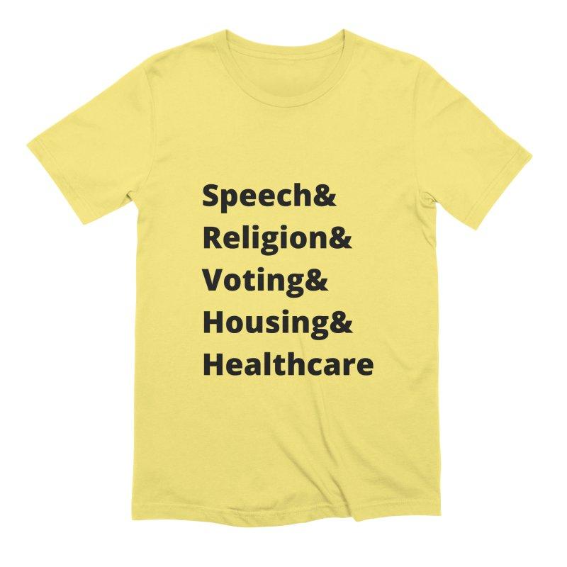 List of Rights Black Men's T-Shirt by PNHPMinnesota's Artist Shop