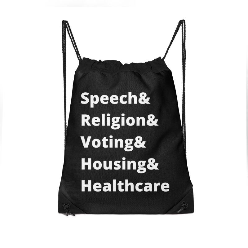 List of Rights in White Accessories Bag by PNHPMinnesota's Artist Shop