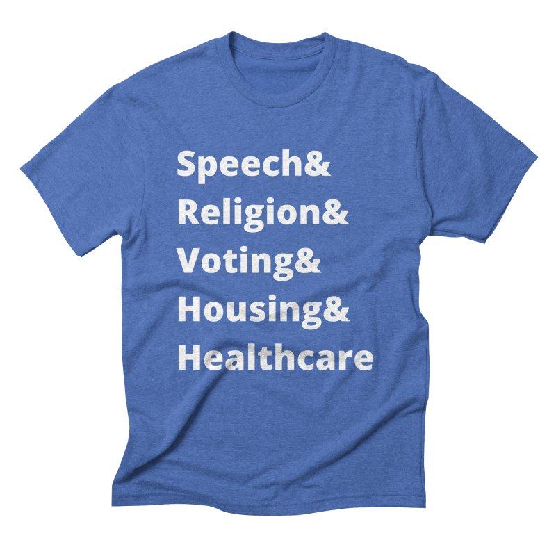 List of Rights in White Men's T-Shirt by PNHPMinnesota's Artist Shop