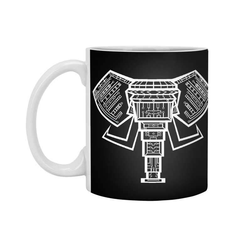 Techlephant Accessories Mug by POP COLOR BOT
