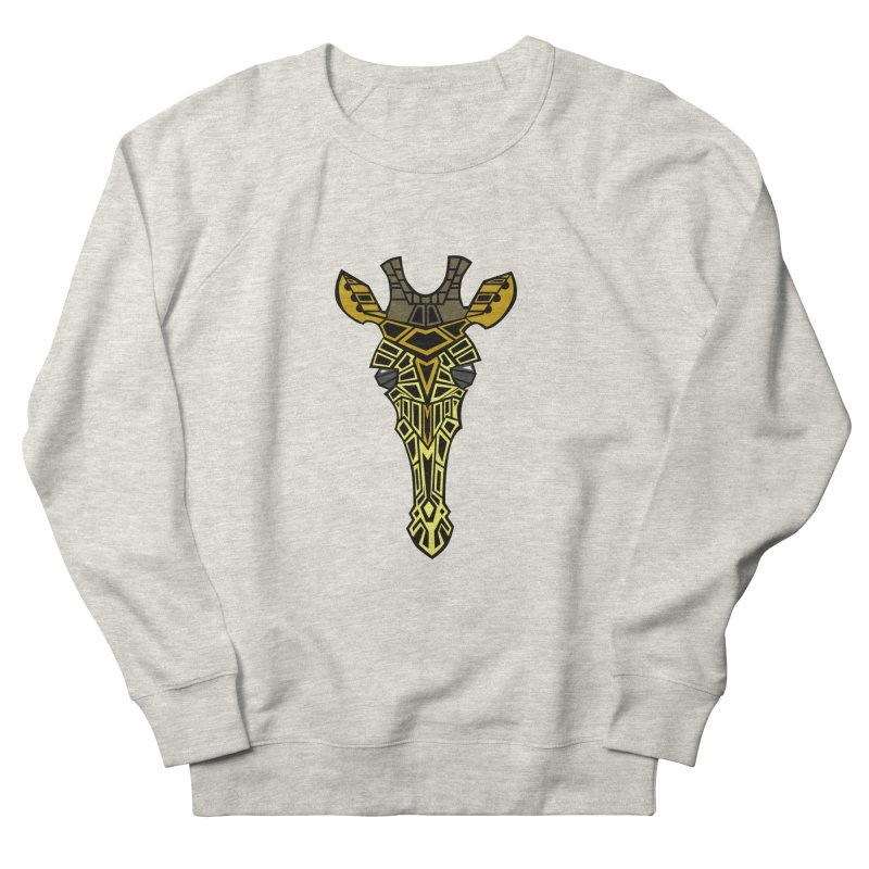 Giraffe Bot Women's French Terry Sweatshirt by POP COLOR BOT