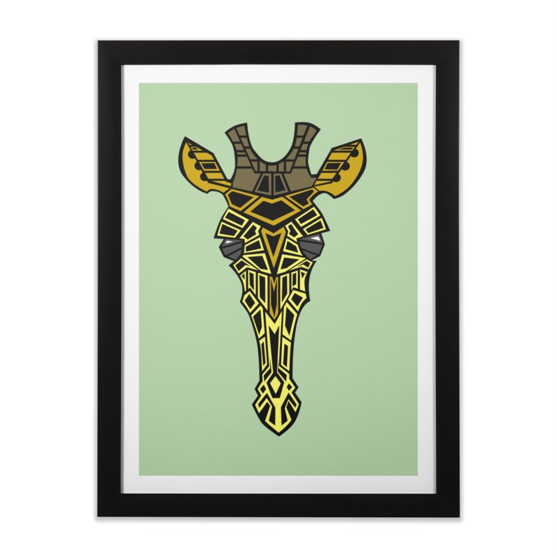 Giraffe Bot Home Framed Fine Art Print by POP COLOR BOT